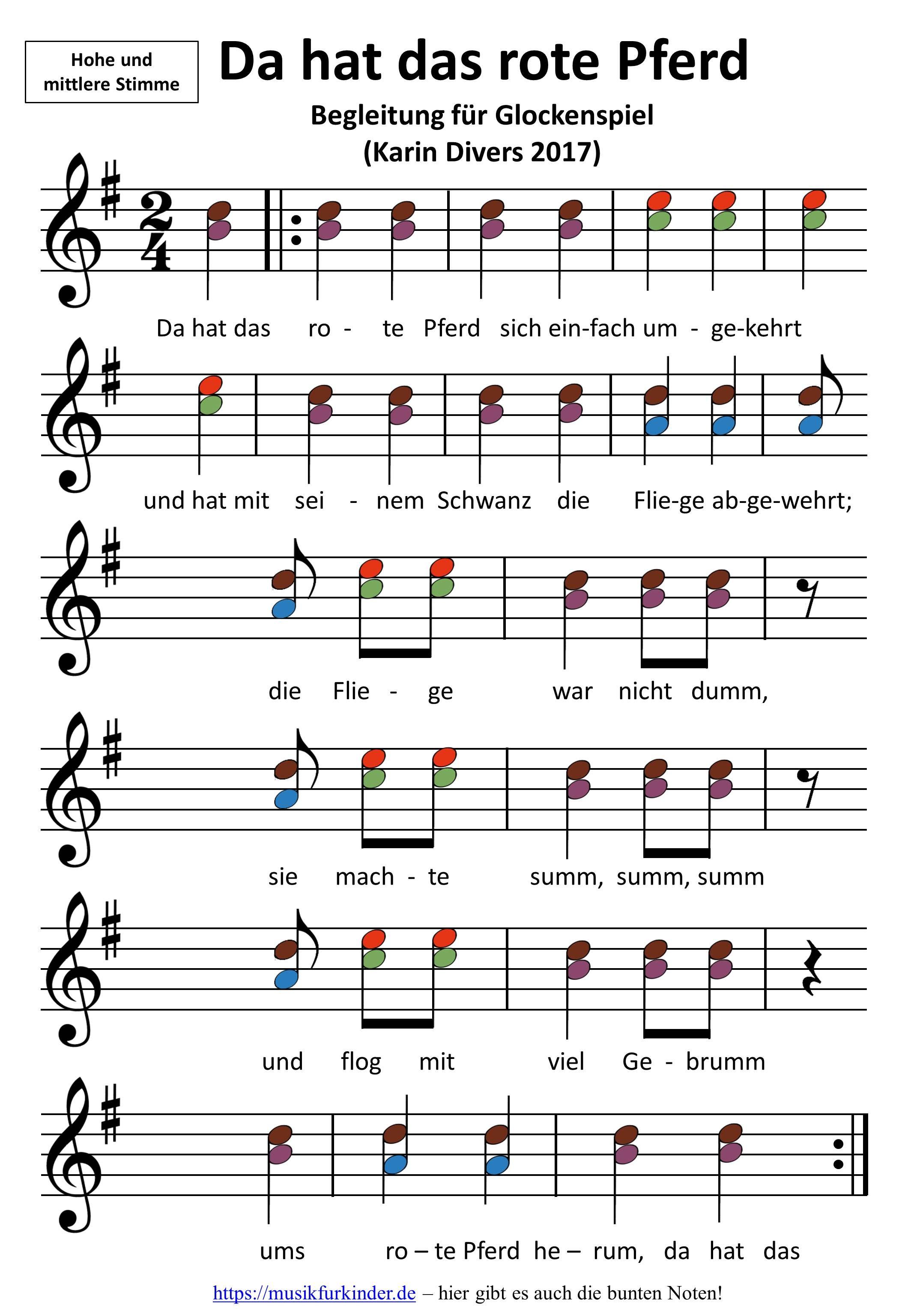 Da hat das rote Pferd | музыка | Pinterest | Kindergarten, Music и ...