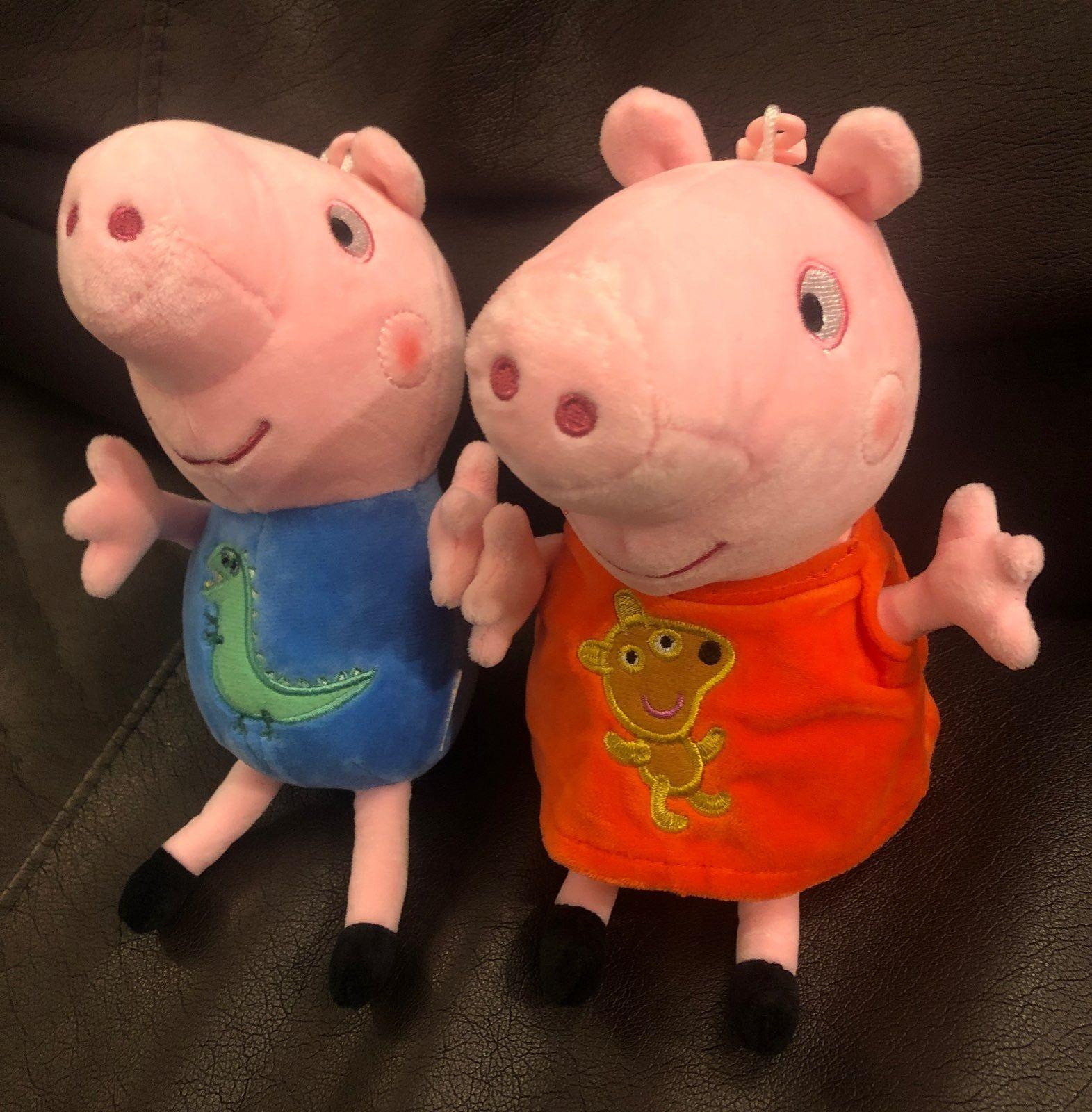 Peppa And George Pig Plush Set Used Mercari Pig Plush Plush Stuffed Animals George Pig [ 1600 x 1571 Pixel ]