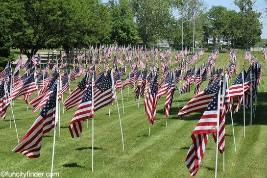 Memorial Day Display At Flanner And Buchanan Oaklawn Memorial Gardens In  Fishers, Indiana.