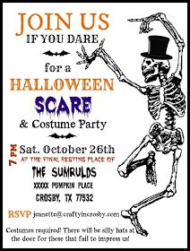 Halloween Invitation Template By Crafty In Crosby Fall Pinterest - Party invitation template: halloween costume party flyer
