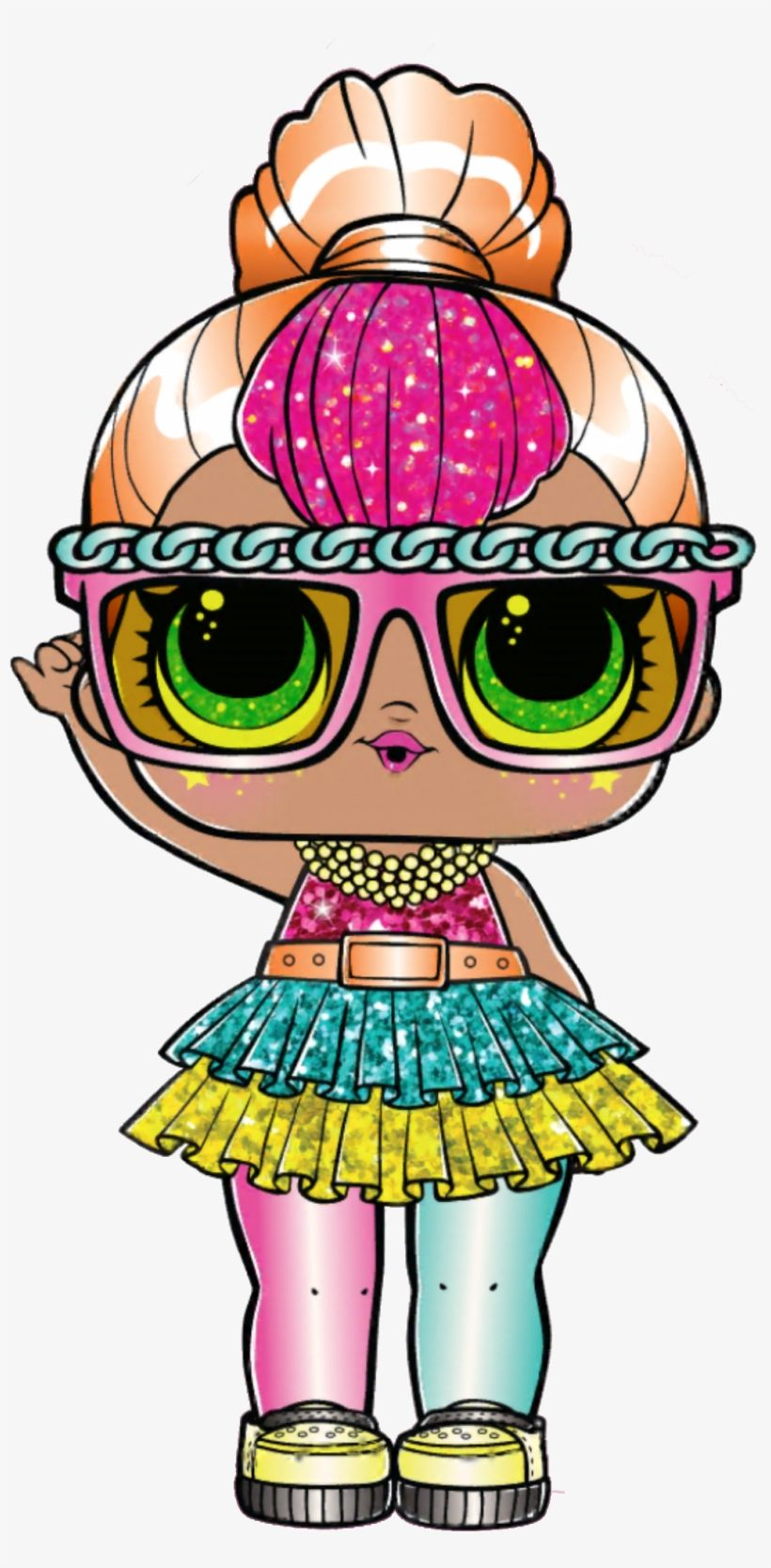 Lol Surprise Neon Qt Glitter Neon Qt Lol Doll Transparent Png