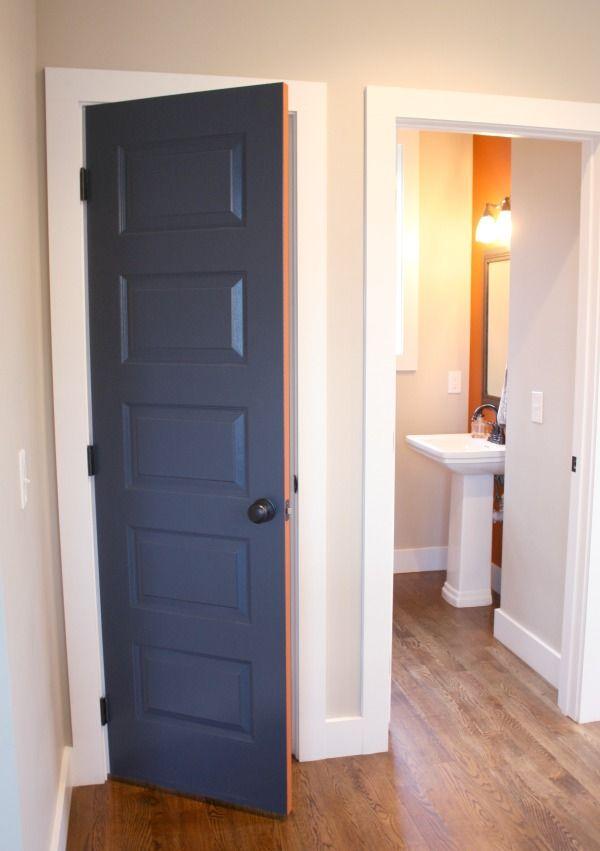 Pantry Door Ideas A Quick Makeover Craft Thyme Blue Interior Doors Pantry Door Painted Pantry Doors