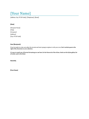 Writing A Nice Looking Business Letter Is A Piece Of Cake With This Letterhead  Template. All Of The Formatting Is Set Up For A Polished Look.