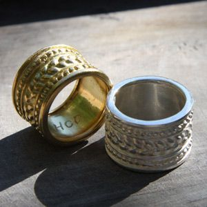 rings solid gold and silver rings, medieval style by creator Helene Courtaigne Delalande
