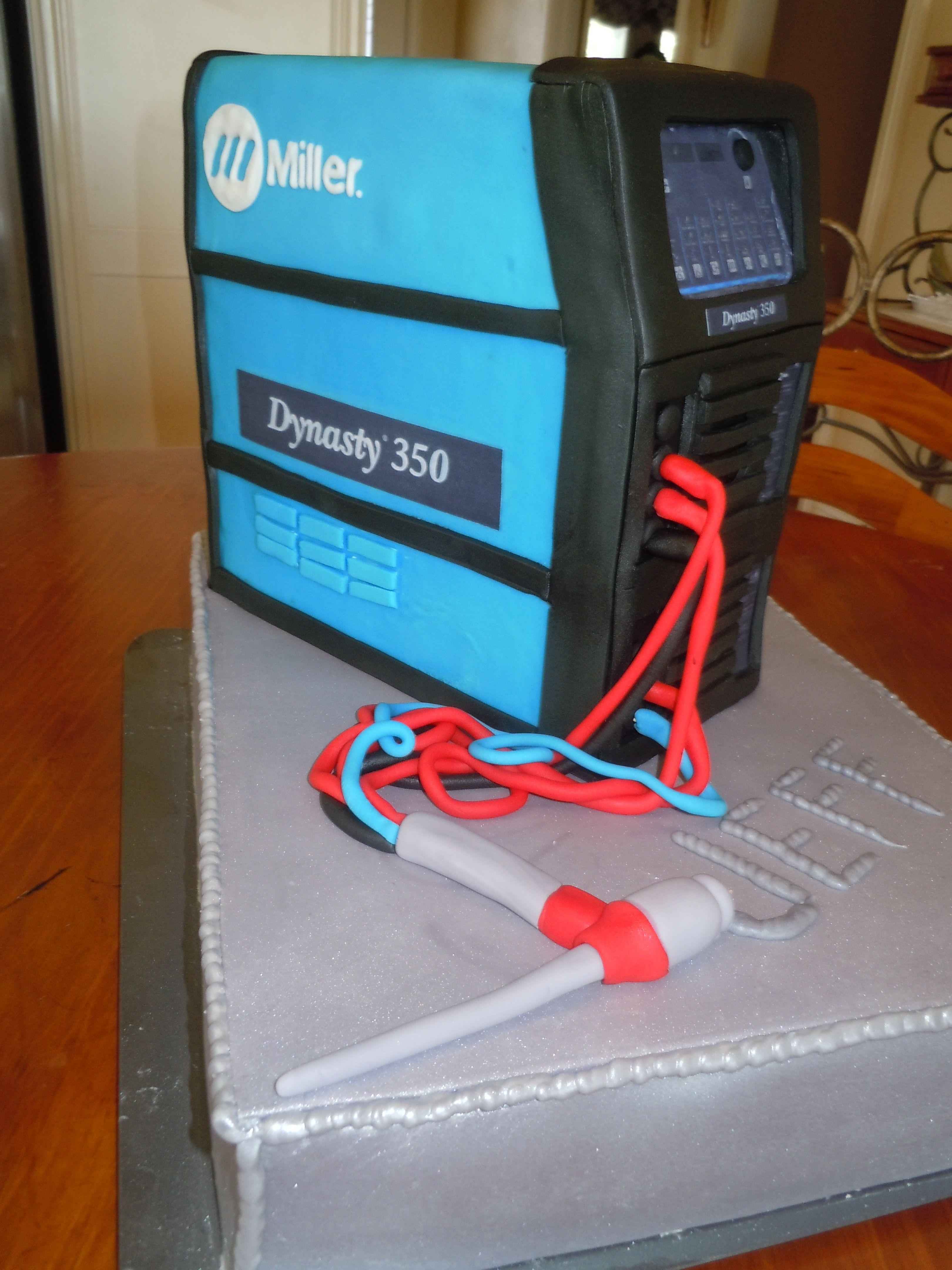 Welder Cake for Jeff | My Cakes | Pinterest | Cake, Birthday cakes ...