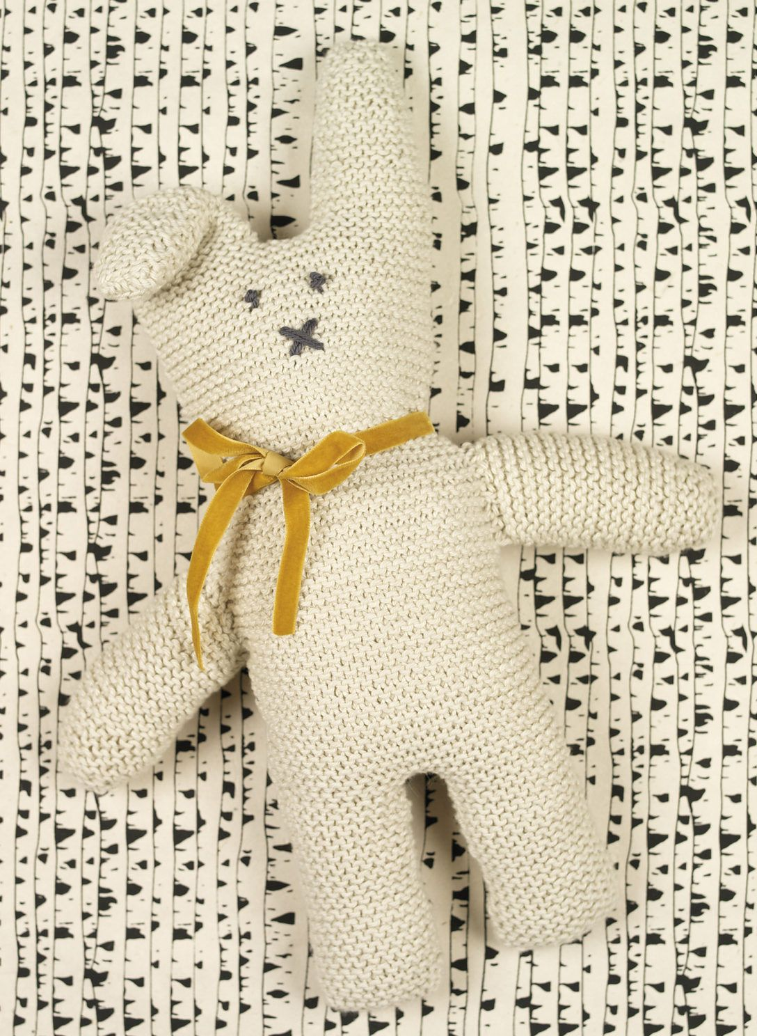 203a389d1 Free Knitting Pattern for Cottontail Rabbit - Easy bunny softie toy ...