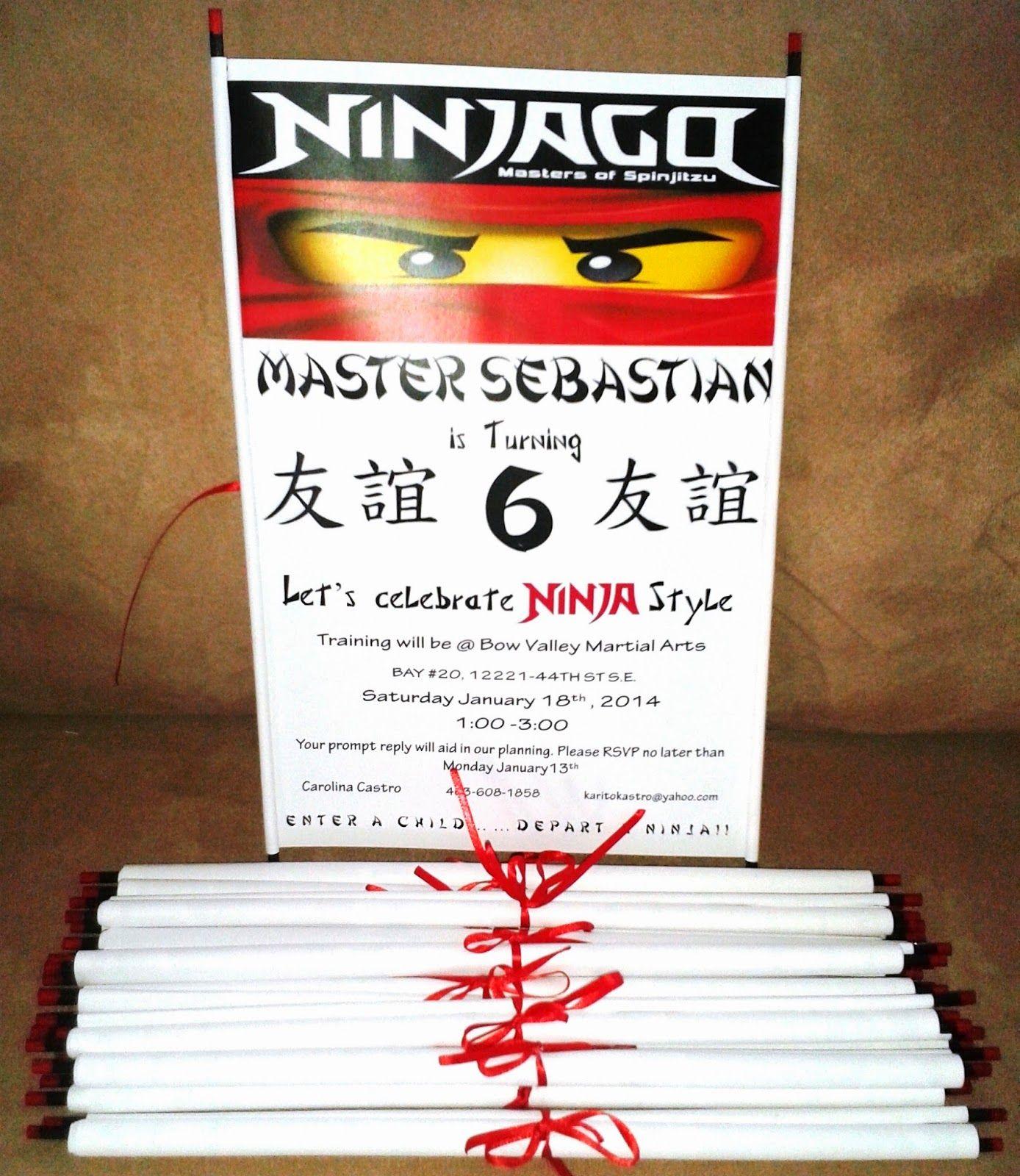 Ninjago Invitations