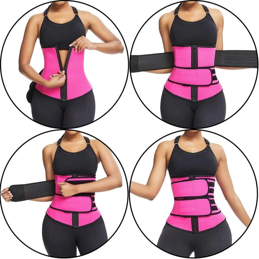 Faja Térmica Moldeadora De Doble Velcro Waist Trainer Clothes For Women Tummy Slimmer