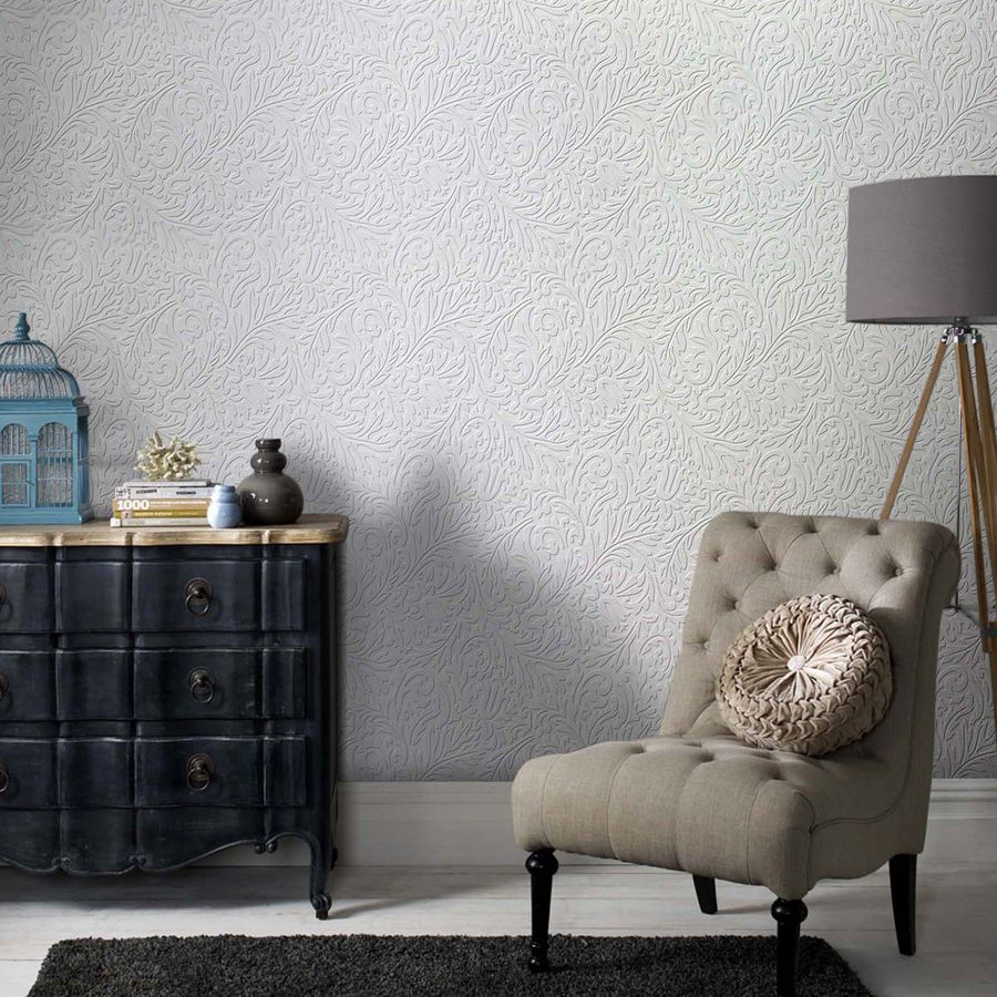 Shop Allen + Roth White Strippable Vinyl Unpasted Paintable Wallpaper At  Lowes.com