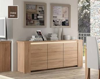 meuble buffet bahut contemporain bryo iii coloris ch ne clair ou ch ne fonc avec clairage. Black Bedroom Furniture Sets. Home Design Ideas