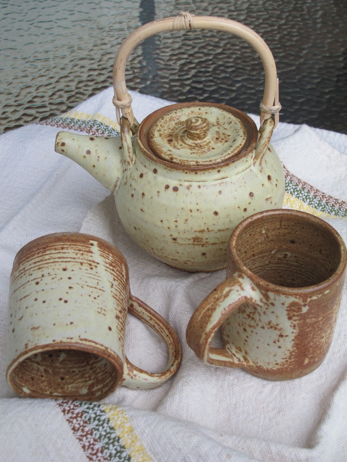 New Prospect Pottery offers handmade functional ceramics for the home fired in their 40 cubic foot gas kiln