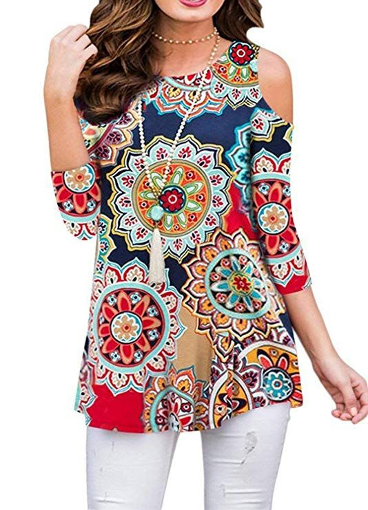 a5edc8b1a5b Pin by Fashion & Home Decors on Women Fashion in 2019 | Tunic tops for  leggings, Tunic tops, Tunic blouse