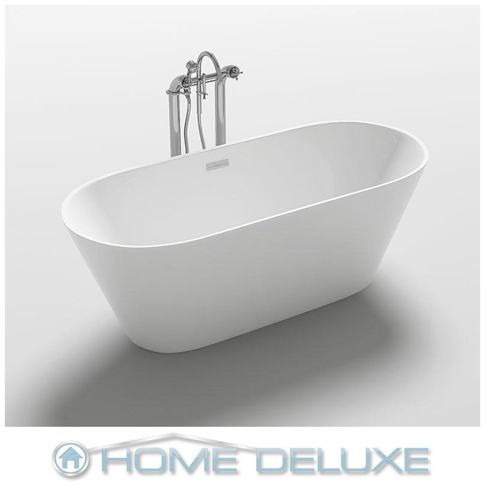 Home Deluxe Exclusive Freistehende Badewanne Acrylwanne Wanne Bad 170x80 Ablauf Bathtub Bathroom