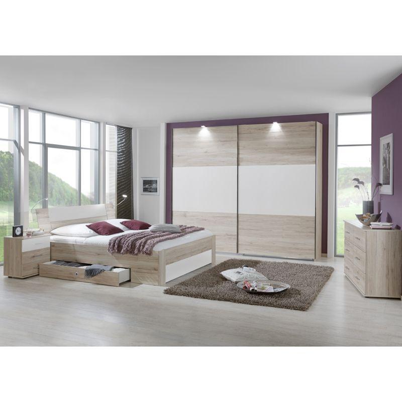 e-combuy Angebote Schlafzimmer Set »YONIE166« San Remo-Eiche, weiß