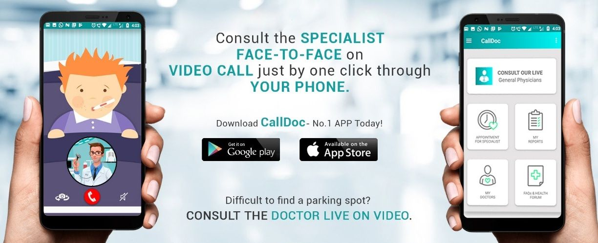 Talk to the doctor on a video call without visiting them