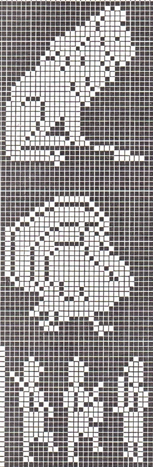 Super cute and FREE cross stitch or filet crochet patterns ...