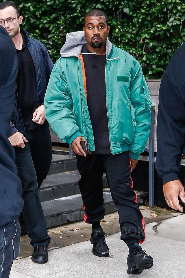 Kanye West wearing Adidas Yeezy Season 4 Calabasas