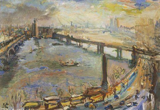 Londres : Vue de la Tamise I, par Oskar Kokoschka