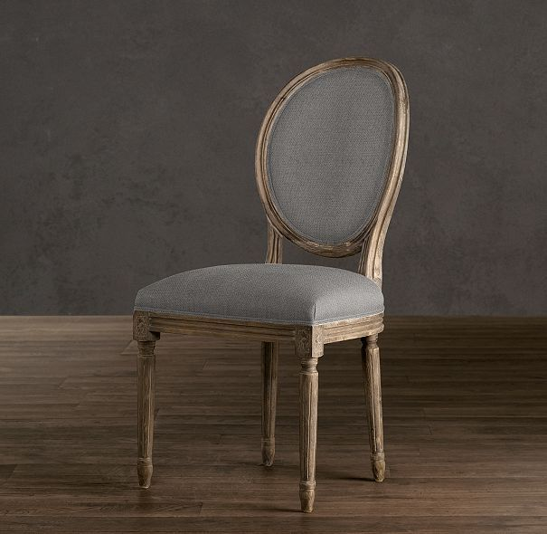 Restoration Hardware Vintage French Round Side Chair Dining Room