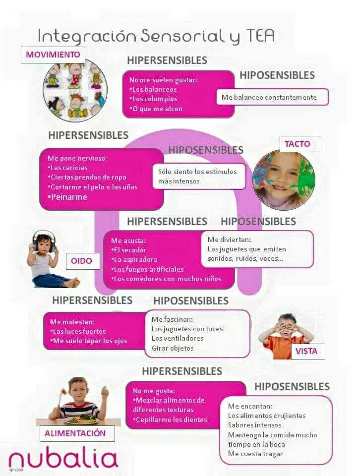 Hipo E Hipersensibilidad En Niños Con Tea Procesamiento Sensorial Terapia De Integración Sensorial Terapia Ocupacional Infantil