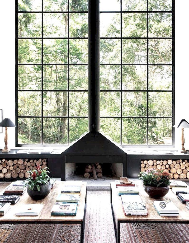 La cheminée moderne, reine du salon design - Elle Décoration | House ...
