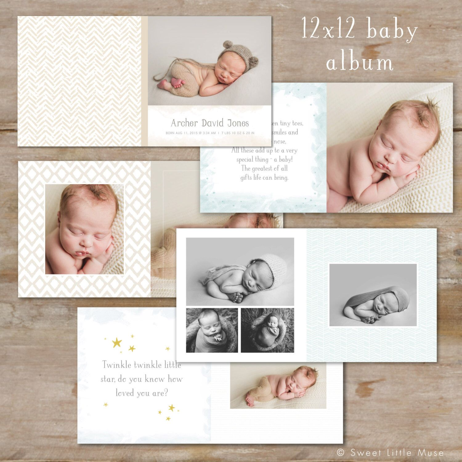 Baby Book Template, Photo Book Template, Book Template, Photo ...