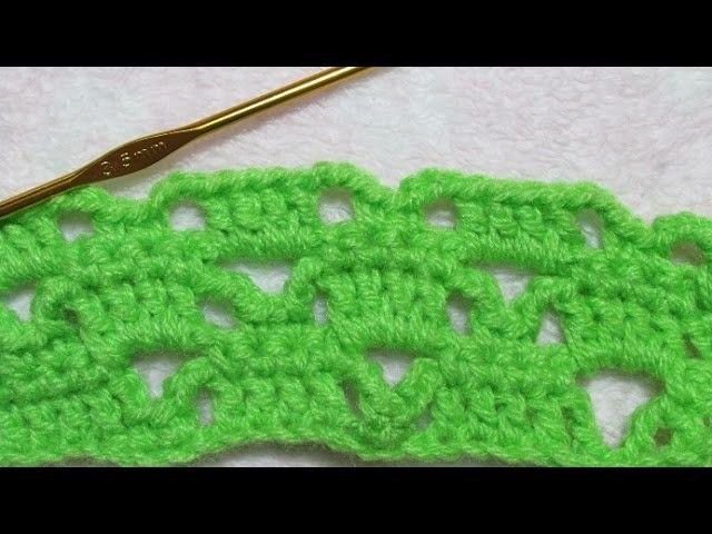 Crochet (Ganchillo) paso a paso punto fantasía para principiantes ...