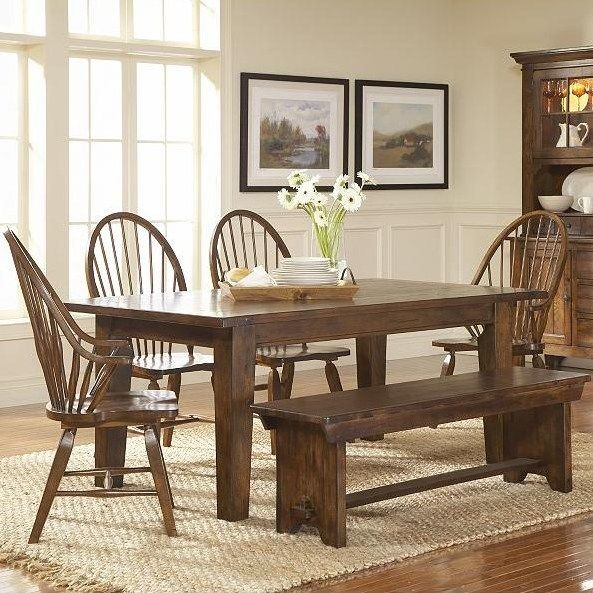 broyhill furniture attic rustic 7 piece dining set - baer's, Esstisch ideennn