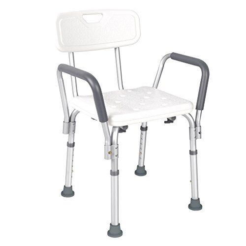 Jcmaster Shower Chair With Back And Arms For Disabled Find Out