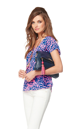 Asher Dolman Sleeve Top - Sapphire Blue Rollin In The Grass