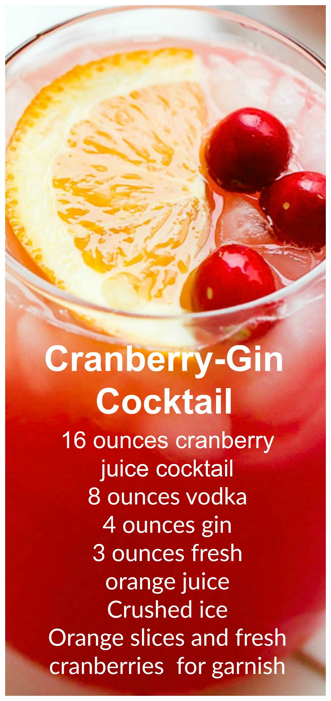 Cranberry-Gin Cocktail #cocktaildrinks