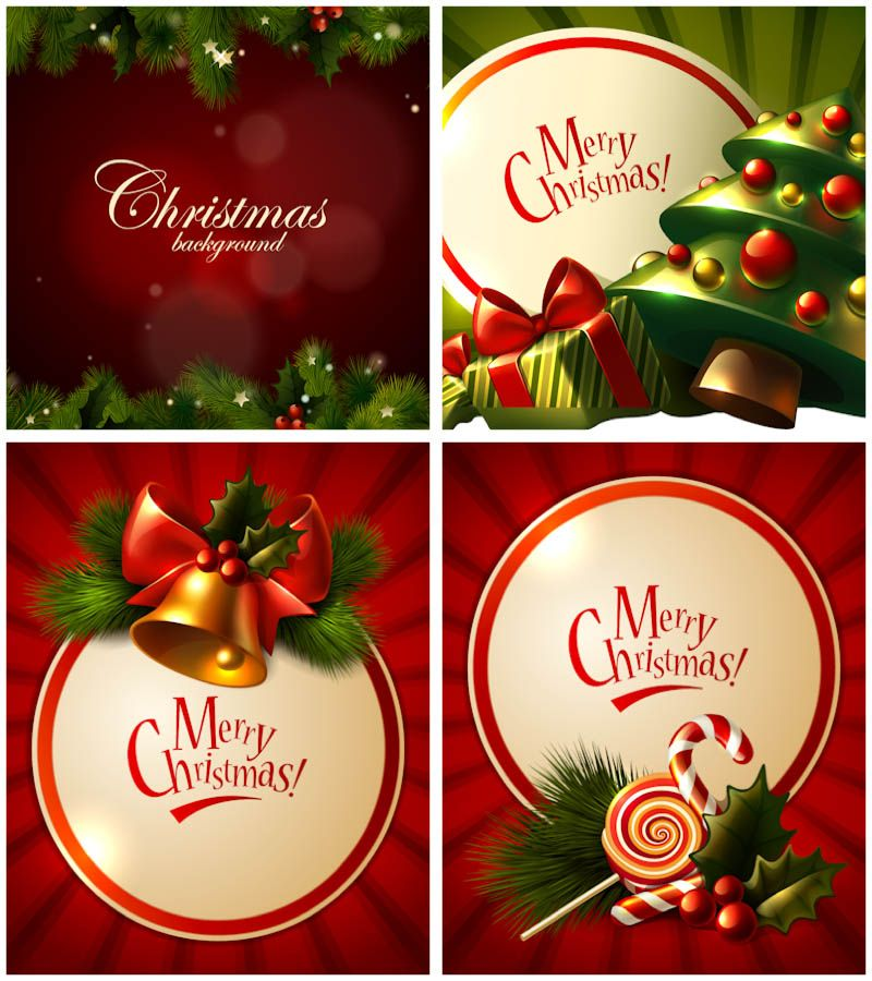 Merry christmas greeting cards vector set christmas luv merry christmas greeting cards vector set m4hsunfo