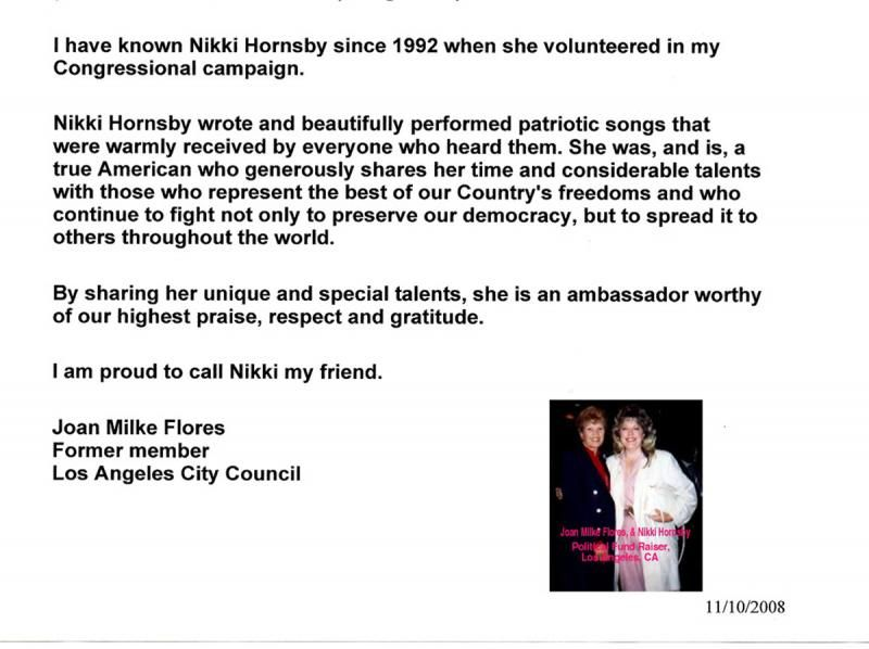 Nikki Hornsby    Below More Letters Of Recommendation For Nikki