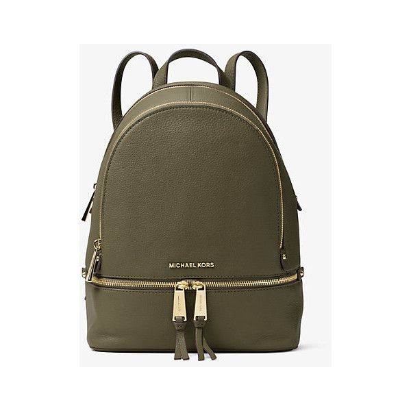 db07e53506d6 MICHAEL Michael Kors Rhea Medium Leather Backpack ( 298) ❤ liked on Polyvore  featuring bags