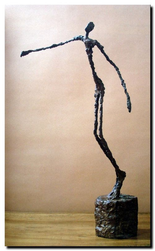 auteur alberto giacometti nature sculpture titre l 39 homme au doigt qui pointe date 1947. Black Bedroom Furniture Sets. Home Design Ideas