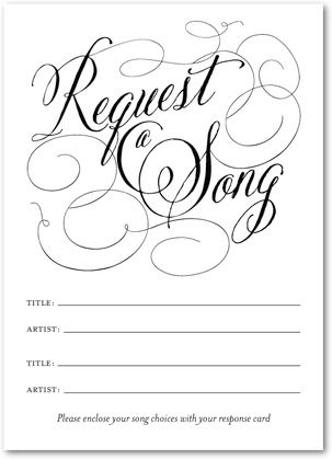 Song Request Cards.  It would be fun to go back and look at these 10, 20 or even 30 years later to see what the popular songs were.