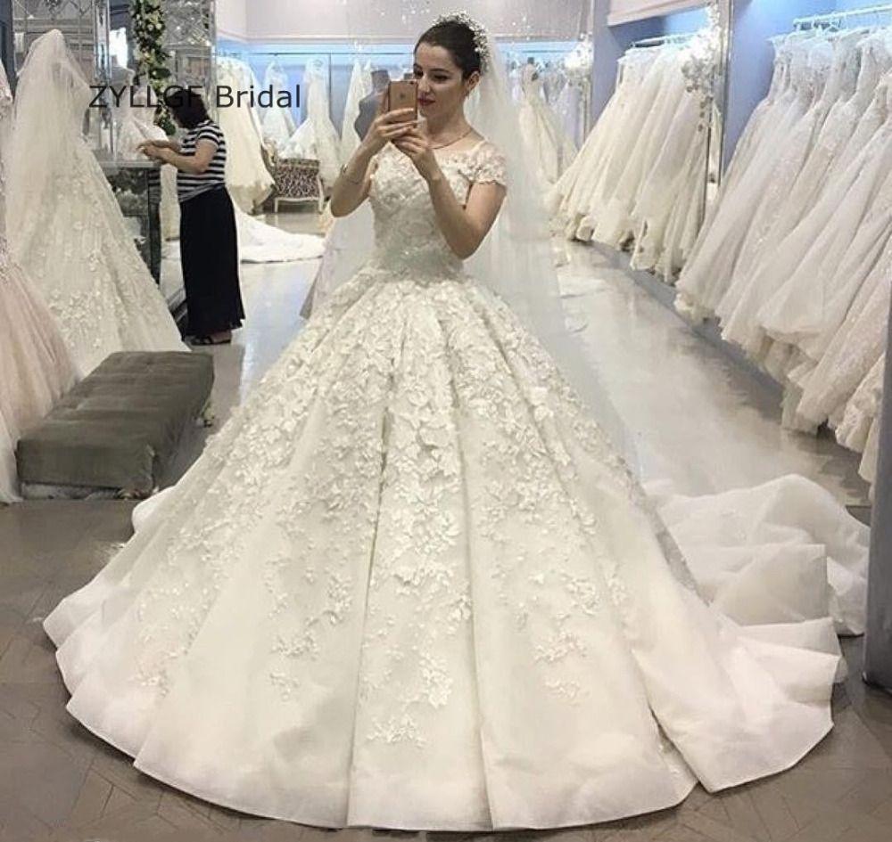 Click To Buy ZYLLGF Bridal Fluffy Wedding Dress Romantic 2017 Ball Gown