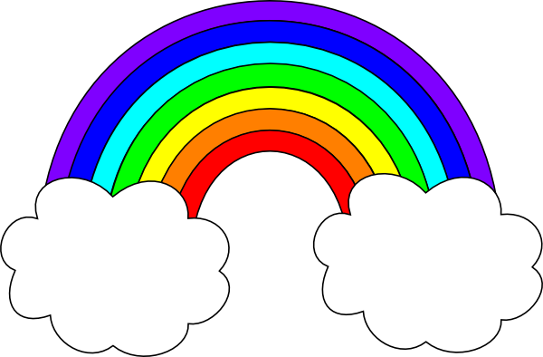 Rainbow With Clouds Clip Art Rainbow With Clouds Clip Art