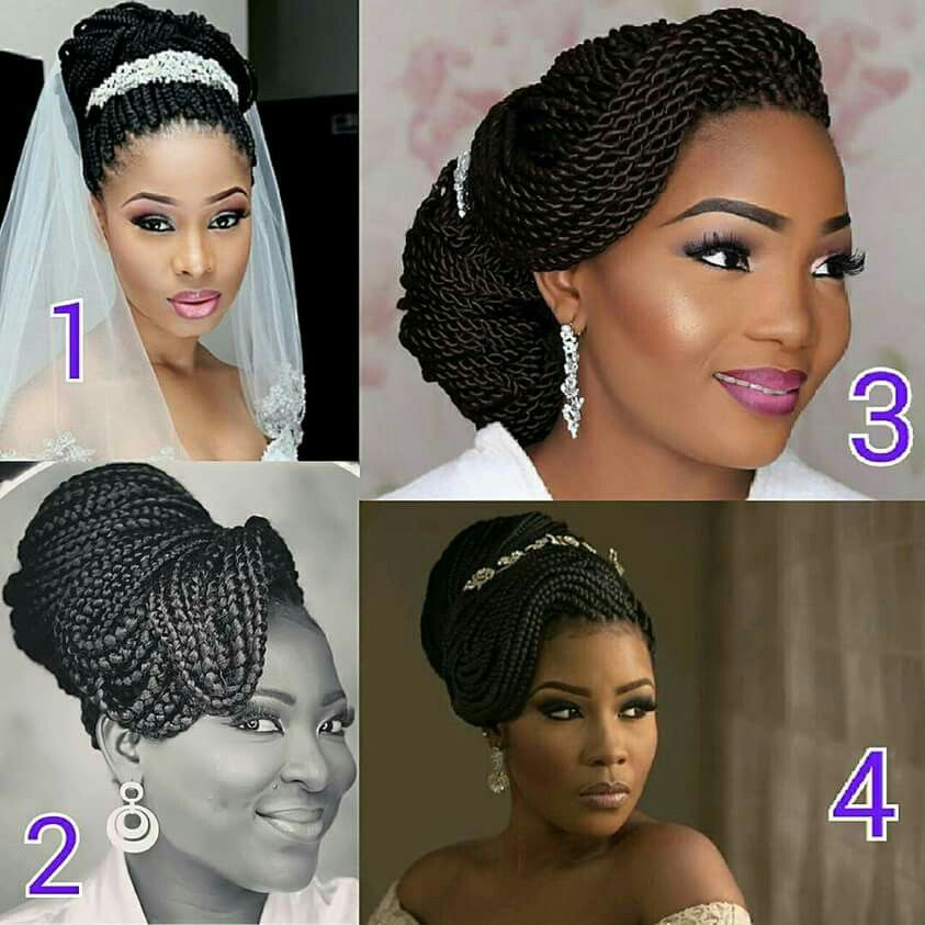 Black Braided Wedding Hairstyles: Natural Wedding Hairstyles, Braided