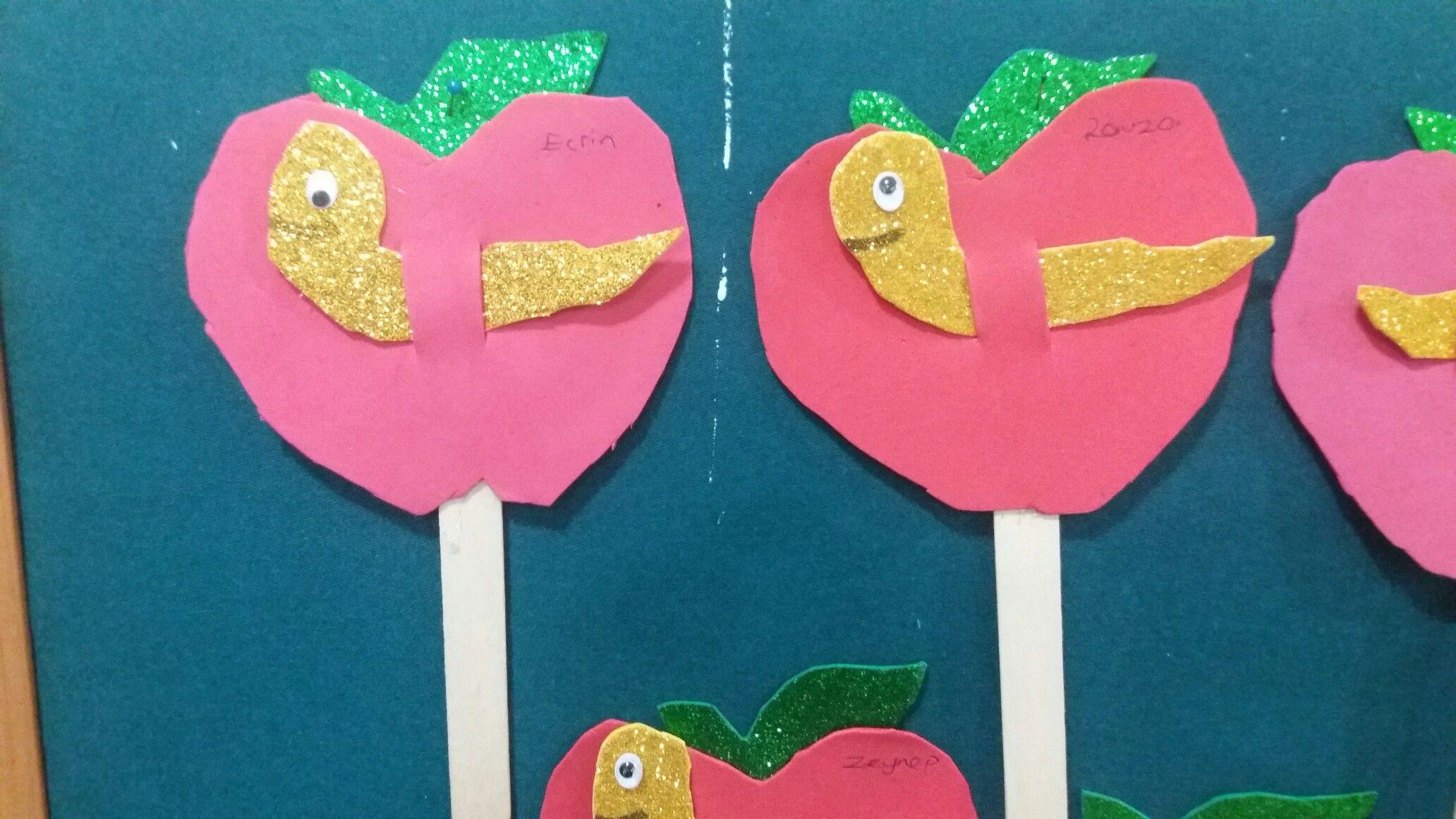 Elma Kurdu Comak Kukla Okul Oncesi Sanat Etkinlikleri Elmalar