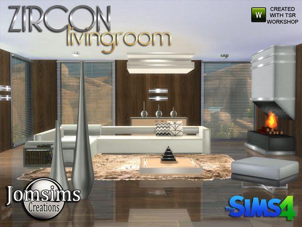 zircon modern living roomjomsims at tsr » sims 4
