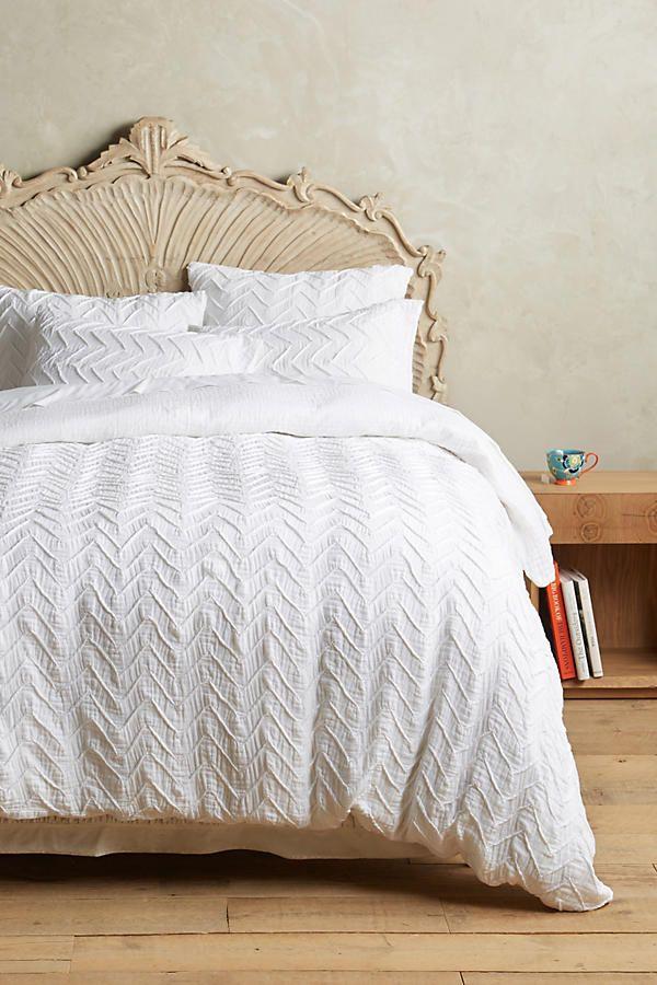 Pin By Cecilia Machado On Apartment Livin In 2021 Chevron Duvet Covers White Duvet Bedding Textured Duvet
