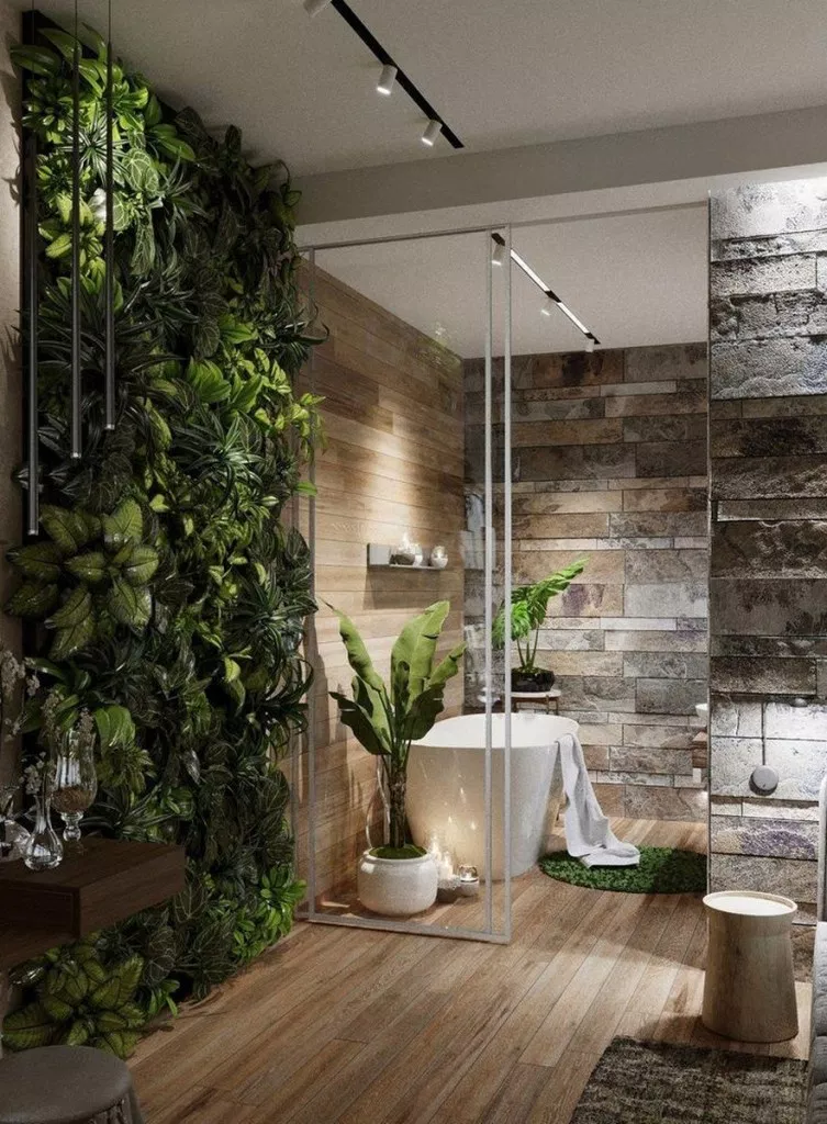 37 Best Nature Bathroom Design Ideas For Inspiration # ...