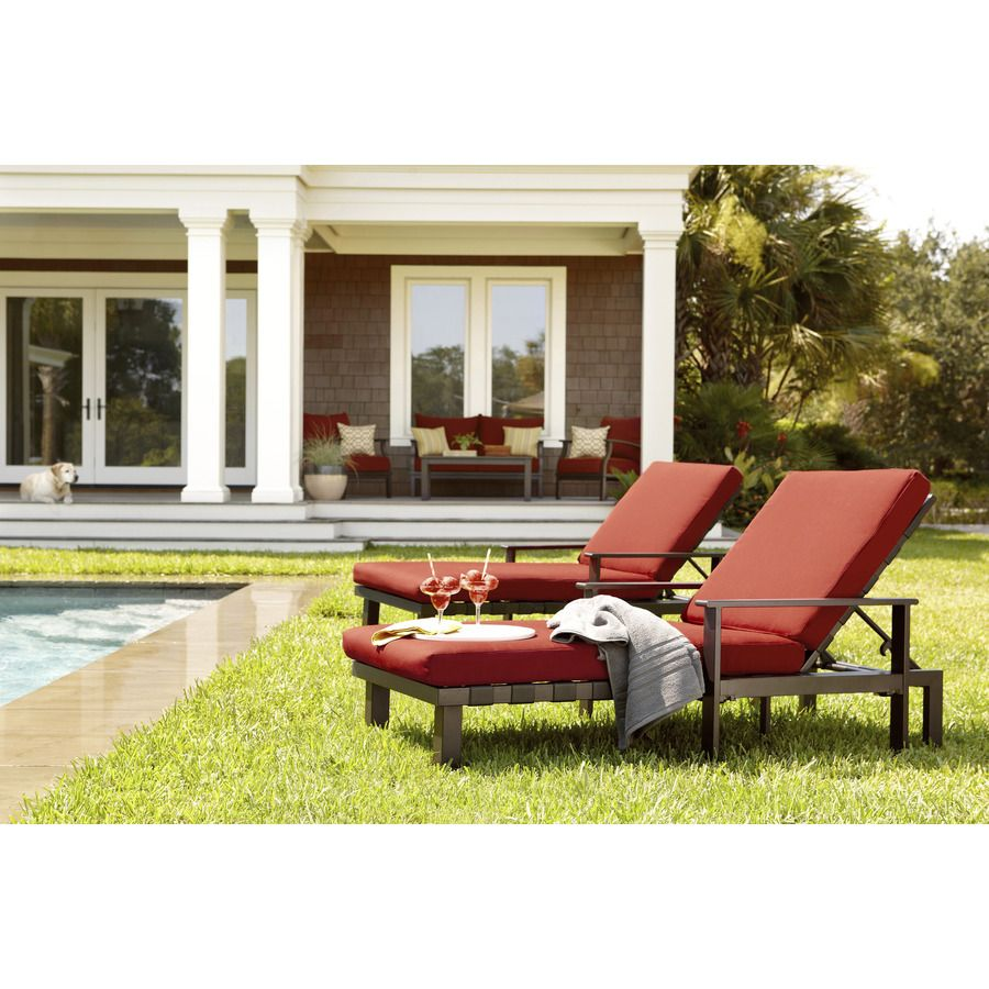 Lowes allen + roth universal chaise lounge/daybed. The arms pop off and you  sc 1 st  Pinterest : lowes chaise lounge - Sectionals, Sofas & Couches