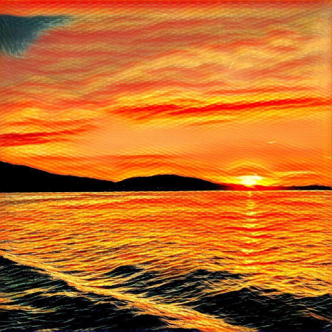 Already Addicted To Prisma App Art Artsy Lucerne Sunset Sunset Madness Lake Luzern Beautiful Evening Sky Iger Igers Ig Worldc