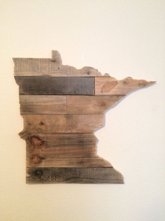 Minnesota State Sign | Reclaimed Wood | Pallet Sign | Home Decor | Wall Art  | Rustic Decor | Barn wood | Minneapolis | Minnetonka | St Paul - Minnesota State Sign Reclaimed Wood Pallet Sign Home Decor