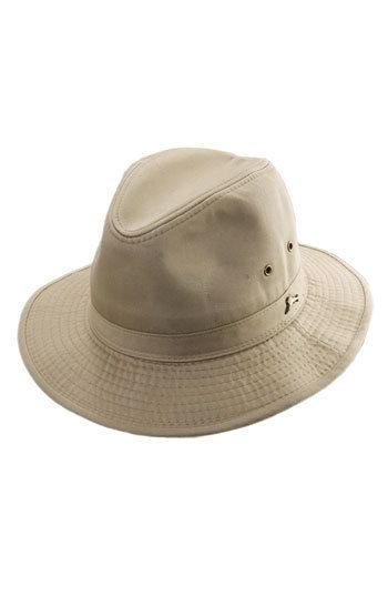 462ade3129bbb A marlin logo pin details a safari-style bucket hat designed with grommets  at the sides for ventilation. Color(s)  khaki. Brand  Tommy Bahama. Style  Name  ...