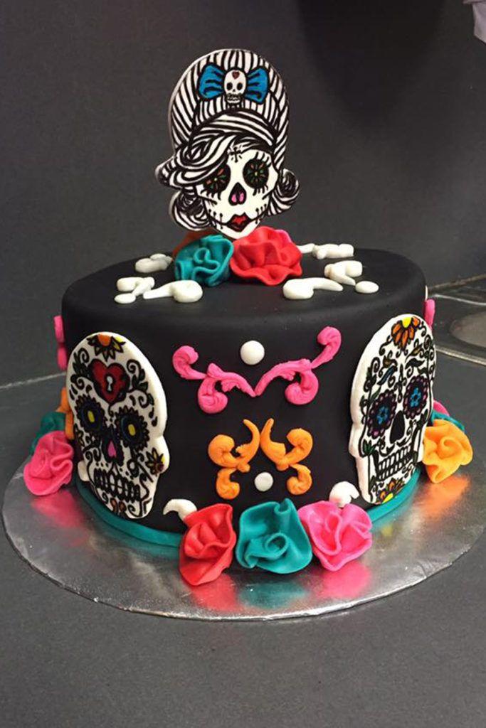 Day Of The Dead Birthday Cake Met Afbeeldingen