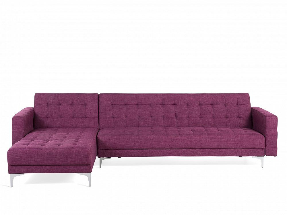 Purple Bed Sofa Corner sofa Sleeper sofa Upholstered Violet