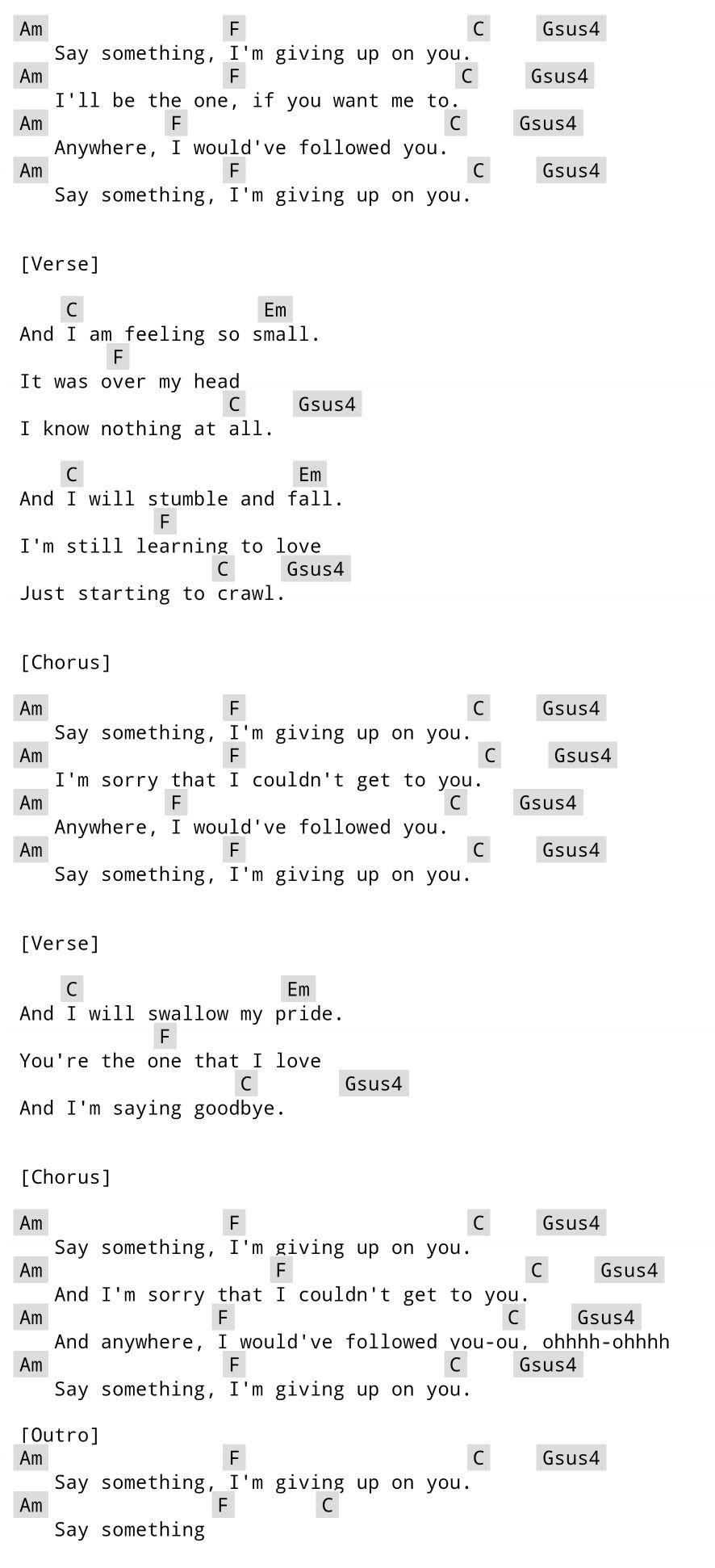 Say Somthing Justin Timberlake Guitar Chords Music Pinterest